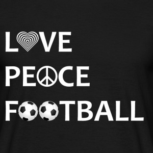 Football Shirt Love Peace Football black - Männer T-Shirt