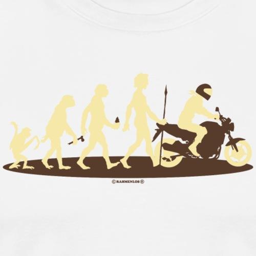 Evolution vom Affen zum Biker Motorradfahrer - RA