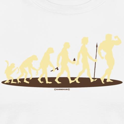 Evolution vom Affen zum Bodybuilder - Fitness Gym