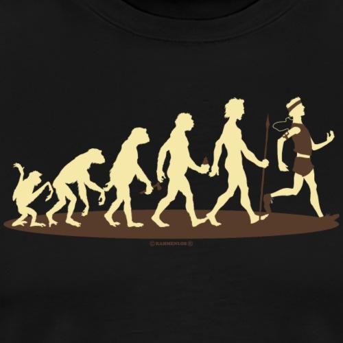 Evolution vom Affen zum Jogger - Laufen Rennen Sp
