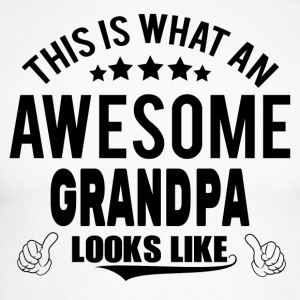 THIS IS WHAT AN AWESOME GRANDPA LOOKS LIKE Long sleeve shirts - Men's Long Sleeve Baseball T-Shirt