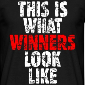 THIS IS WHAT WINNERS LOOK LIKE T-Shirt (Vintage Ro - Männer T-Shirt