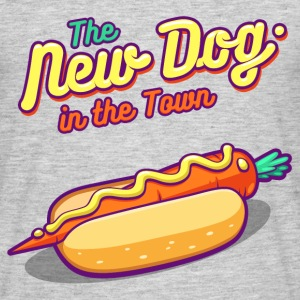 Gråmelerad The New Dog in the Town T-shirts - T-shirt herr