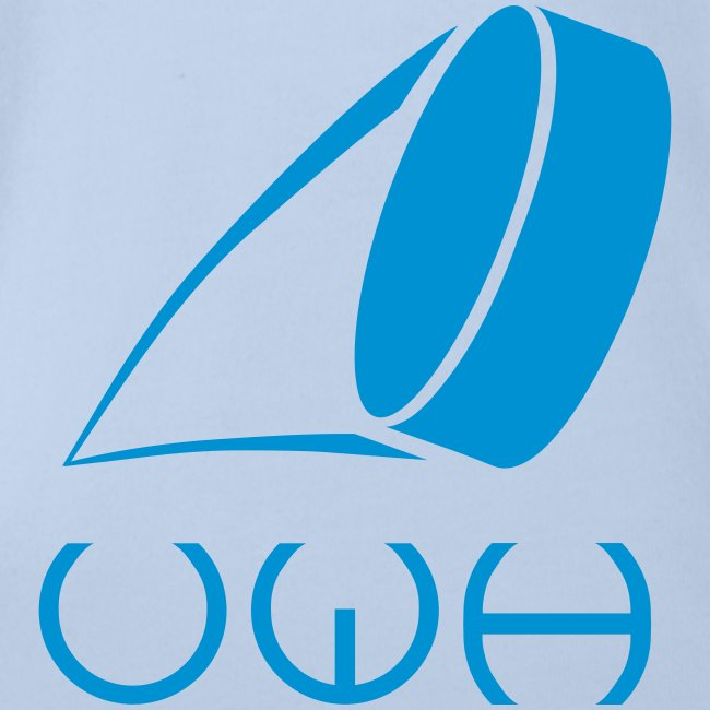 UWH Logo. Baby Bodysuit - (LogoBlue - frt/sm)