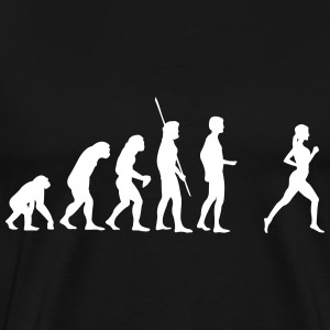evolution jogger T-shirts - Herre premium T-shirt