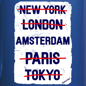NY London Amsterdam..., Francisco Evans ™ Tazas y accesorios - Taza de un color