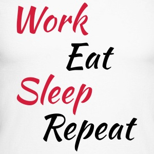 Work eat sleep repeat Manches longues - T-shirt baseball manches longues Homme