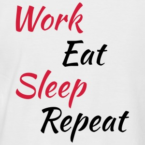 Work eat sleep repeat T-Shirts - Men's Baseball T-Shirt