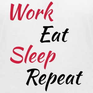Work eat sleep repeat T-shirts - T-shirt med v-ringning dam