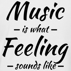 Music is what feeling sounds like Tee shirts - T-shirt baseball manches courtes Homme