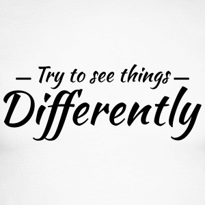 Try to see things differently Langarmshirts - Männer Baseballshirt langarm