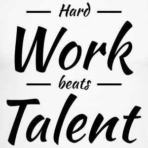 Hard work beats talent Long sleeve shirts - Men's Long Sleeve Baseball T-Shirt