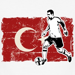 Soccer - Fußball - Turkey Flag T-Shirts - Männer Slim Fit T-Shirt