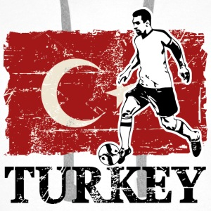 Soccer - Fußball - Turkey Flag Hoodies & Sweatshirts - Men's Premium Hoodie