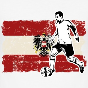 Soccer - Fußball - Austria Flag T-Shirts - Men's Slim Fit T-Shirt