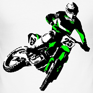 MotoCross T-shirts - Herre Slim Fit T-Shirt