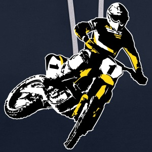 MotoCross Sweat-shirts - Sweat-shirt contraste