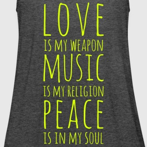 Love, Music & Peace Tank Top - Frauen Tank Top von Bella