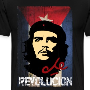 Che Guevara Cuba Flag Men T-Shirt - Premium T-skjorte for menn
