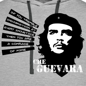 Che Guevara If you tremble with Indignation Men  - Felpa con cappuccio premium da uomo