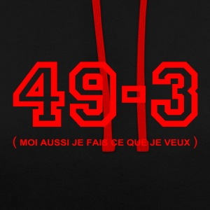 sweet 49-3 - Sweat-shirt contraste