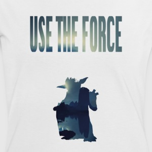 USE THE FORCE - Frauen Kontrast-T-Shirt
