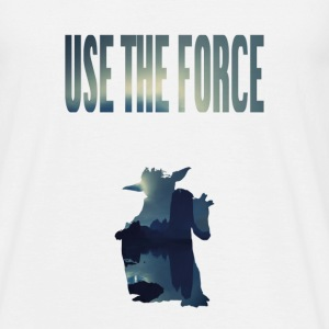 USE THE FORCE - Männer T-Shirt