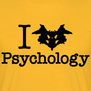 I Heart (Rorschach Inkblot) Psychology T-Shirts - Men's T-Shirt