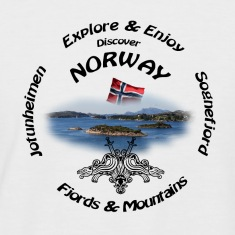 Norway t shirt Black T-Shirts