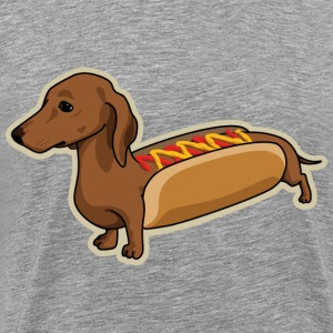 Heather grey Hot Dog T-Shirts - Men's Premium T-Shirt