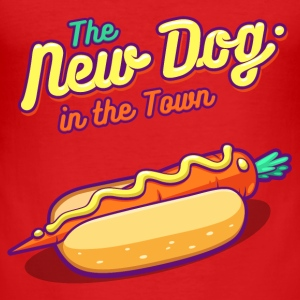 Red The New Dog in the Town T-Shirts - Men's Slim Fit T-Shirt