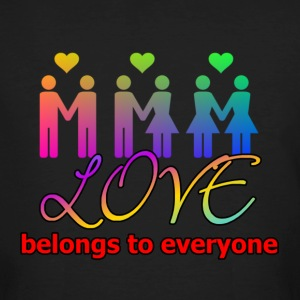 Love belongs to everyone - Männer Bio-T-Shirt