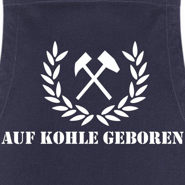 """Grillschürze """"Auf Kohle geboren"""""""