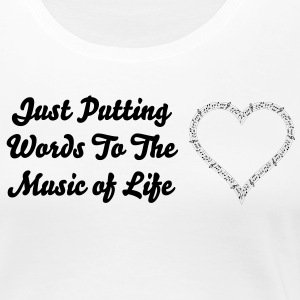 Music of Life Ladies Fitted - Women's Premium T-Shirt