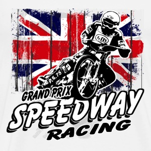 UK Speedway - Vintage Union Jack T-skjorter - Premium T-skjorte for menn