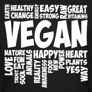 Vegan Word Cloud T-Shirts - Männer Bio-T-Shirt
