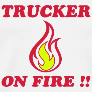 Trucker on fire Camisetas - Camiseta premium hombre