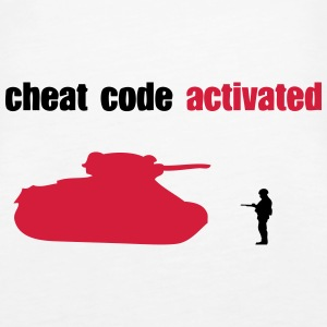 cheat code activated tank geek aktiviert Tops - Frauen Premium Tank Top