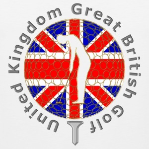 United Kingdom GB golf T-Shirts - Men's Premium Tank Top