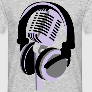 RETRO MICROPHONE AND HEADPHONES T-SHIRT - Men's T-Shirt