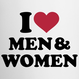 I love men and women Tassen & Zubehör - Tasse