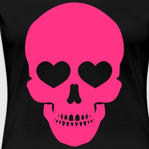 Skull with Hearts - Frauen Premium T-Shirt