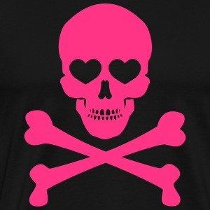 Skull and Bones with Hearts - Männer Premium T-Shirt