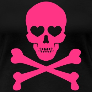 Skull and Bones with Hearts - Frauen Premium T-Shirt