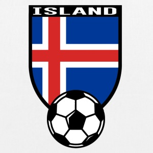 Island Fussball Fan Shirt 2016 Bags & Backpacks - EarthPositive Tote Bag