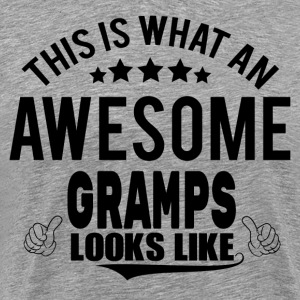THIS IS WHAT AN AWESOME GRAMPS LOOKS LIKE T-Shirts - Men's Premium T-Shirt