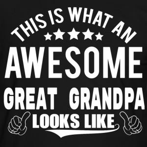 THIS IS WHAT AN AWESOME GREAT GRANDPA LOOKS LIKE T-Shirts - Men's Ringer Shirt