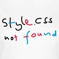 """Nerd T-Shirts mit """"css style not found"""""""