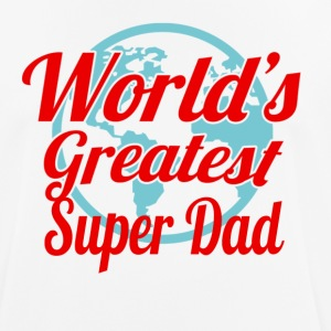 Worlds Greatest Super Dad - Men's Breathable T-Shirt