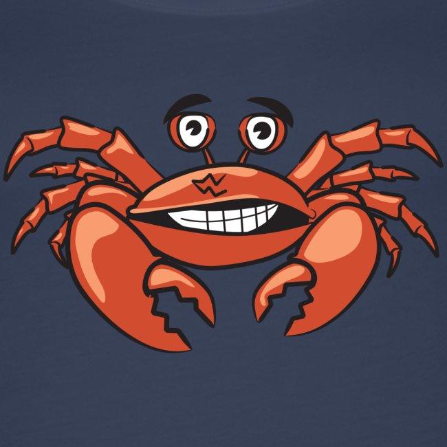Lustige Krabbe für Urlaub, Sommer und Meer